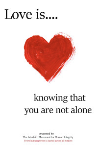 Love is  knowing  you are not alone
