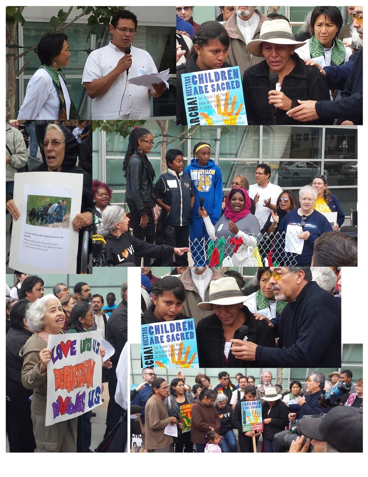 Migrant Children Vigil Pics